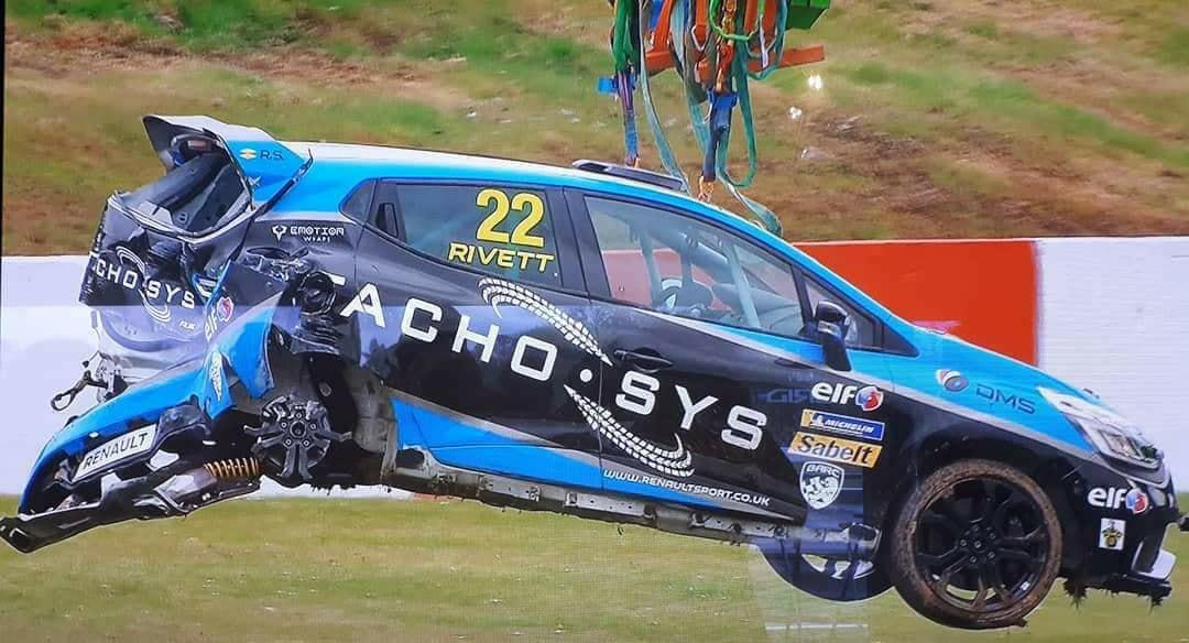 paul rivett damaged car
